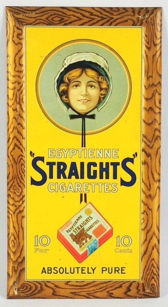 5: Tin Egyptienne Straights Cigarettes Sign.