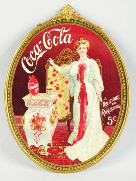24: Rare Coca-Cola Cameo Sign.