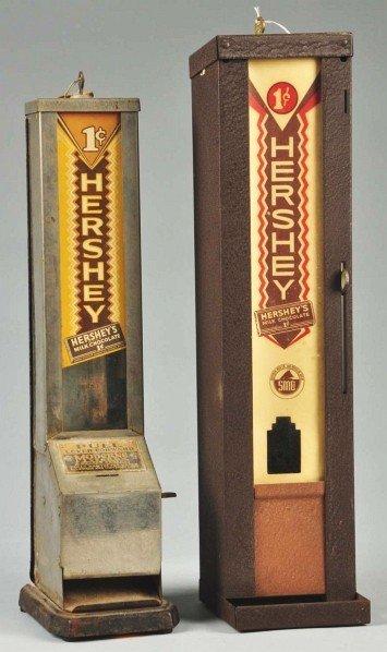 35: Lot of 2: Hershey's 1¢ Chocolate Bar Dispensers.