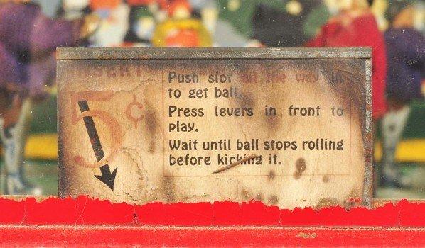 111: Lg. Wooden Play Football Coin-Op. - 4