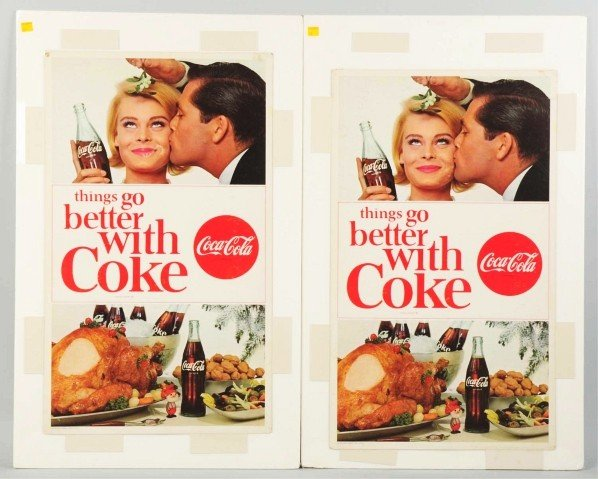 170: Lot of 4: Cardboard Coca-Cola Posters.
