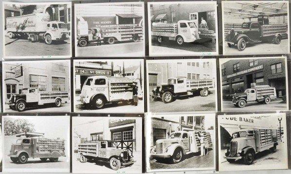 171: Lot of 12: Assorted Coca-Cola Truck Photos.