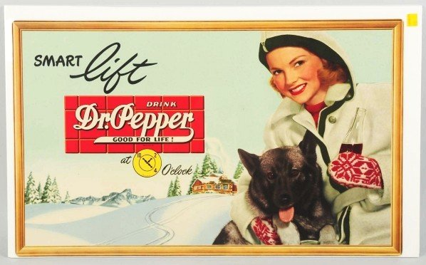 181: Lot of 2: Cardboard Dr. Pepper Posters.