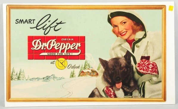 182: Lot of 2: Cardboard Dr. Pepper Posters.