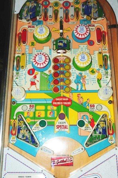 331: Gottlieb Cross Town Pinball Machine. - 3
