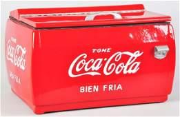 370: Unusual Spanish Coca-Cola Countertop Cooler.