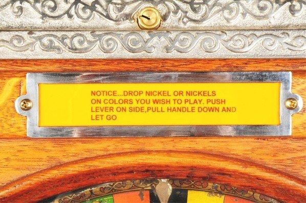 408: Mills 5¢ Owl Upright Slot Machine. - 4