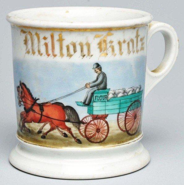 7: Horse-Drawn Flour Wagon Shaving Mug.