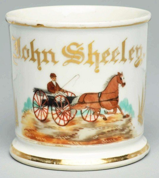 25: Horse-Drawn Carriage Shaving Mug.