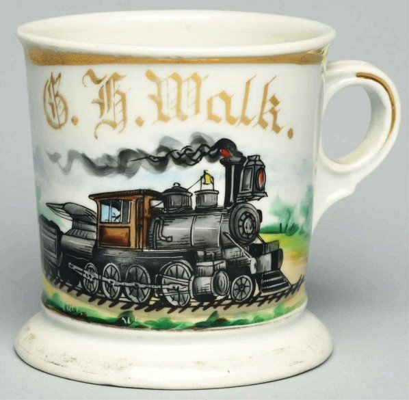 37: Locomotive Shaving Mug.