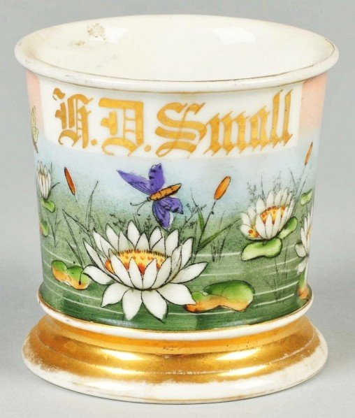 "40: Highly Decorative ""H.D. Small"" Name Shaving Mug."