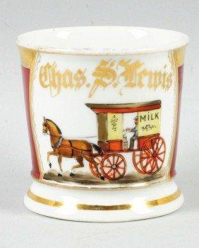 Milk Wagon Shaving Mug.