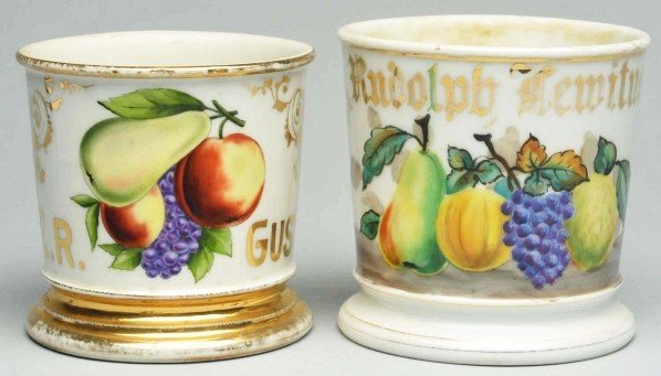 111: Lot of 2: Fruit Related Shaving Mugs.