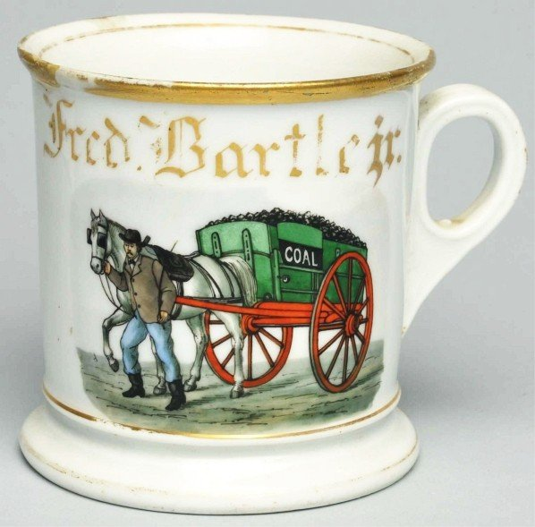 118: Horse-Drawn Coal Wagon Shaving Mug.