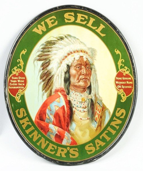 371: Tin Skinner's Satins Sign.
