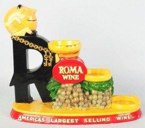 Roma Wine Bottle Display Advertising Figure.
