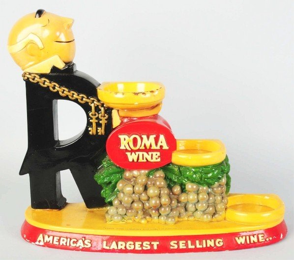606: Roma Wine Bottle Display Advertising Figure.