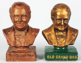 609: Lot of Old Grand Dad Bar Back Items.