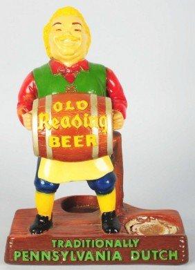 Old Reading Beer Bar Back Advertising Figure.