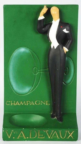 632: Devaux Champagne Store Adveriting Figure.