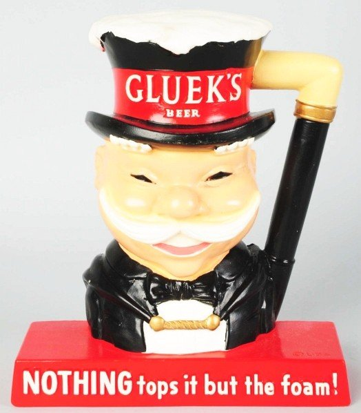 637: Gluek's Beer Advertising Figure.