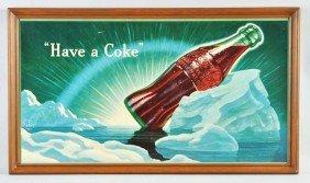Cardboard Coca-Cola Horizontal Poster.