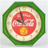 984: Coca-Cola Octagonal Neon Clock.