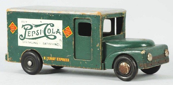 1244: Wooden Pepsi-Cola Buddy L Toy Truck.