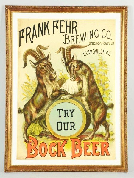1277: Frank Fehr Brewing Co. Bock Beer Poster.