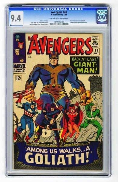 1: Avengers #28 CGC 9.4 Marvel Comics 5/66.