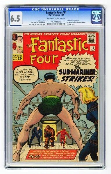2: Fantastic Four #14 CGC 6.5 Marvel Comics 5/63.