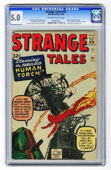 4: Strange Tales #101 CGC 5.0 Marvel Comics 10/62.