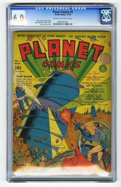 5: Planet Comics #9 CGC 6.0 Fiction House 11/40.