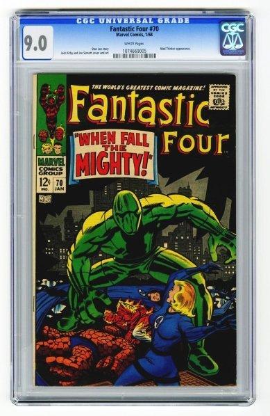 7: Fantastic Four #70 CGC 9.0 Marvel Comics 1/68.