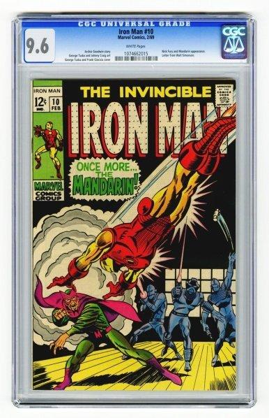 8: Iron Man #10 CGC 9.6 Marvel Comics 2/69.