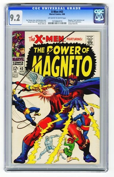 9: X-Men #43 CGC 9.2 Marvel Comics 4/68.