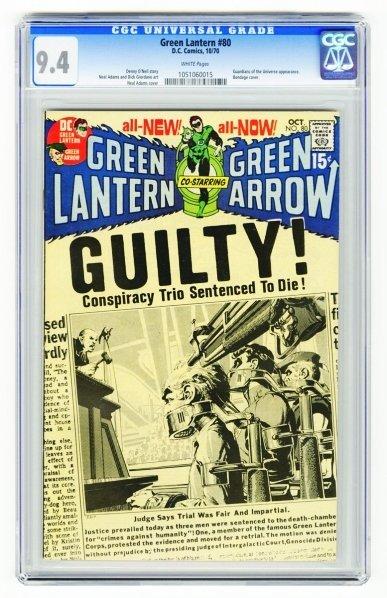 10: Green Lantern #80 CGC 9.4 D.C. Comics 10/70.