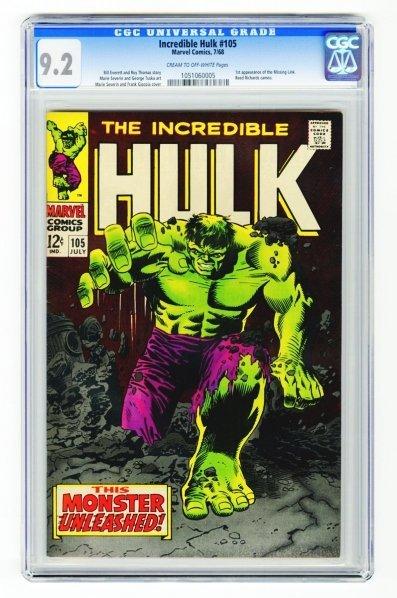 11: Incredible Hulk #105 CGC 9.2 Marvel Comics 7/68.