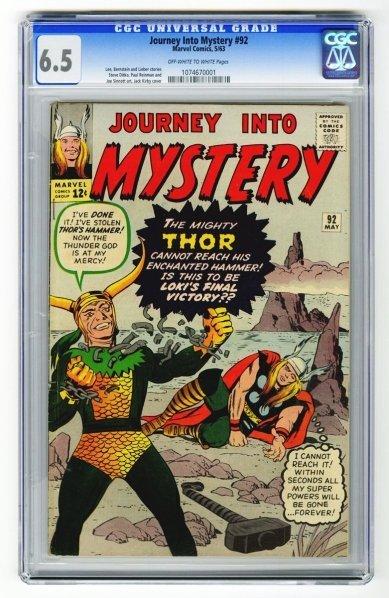 12: Journey Into Mystery #92 CGC 6.5 Marvel Comics.