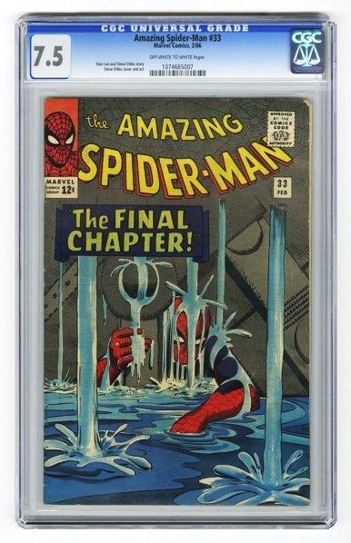 14: Amazing Spider-Man #33 CGC 7.5 Marvel Comics.