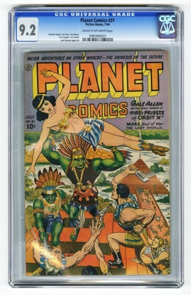 15: Planet Comics #31 CGC 9.2 Fiction House 7/44.