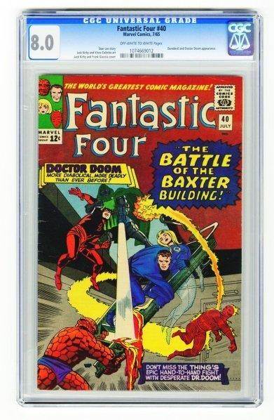 16: Fantastic Four #40 CGC 8.0 Marvel Comics 7/65.