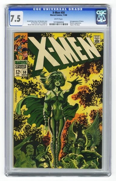18: X-Men #50 CGC 7.5 Marvel Comics 11/68.