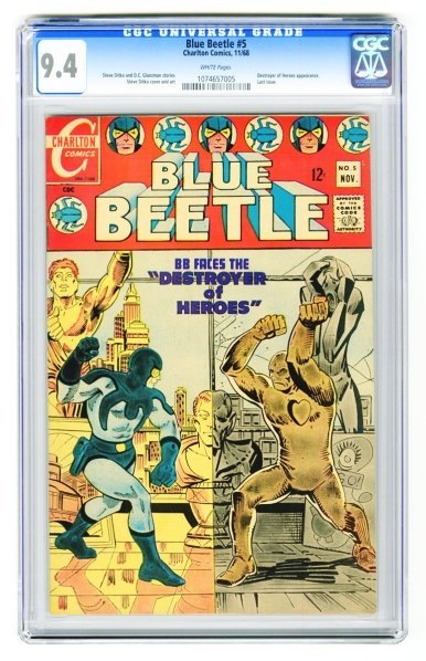 20: Blue Beetle #5 CGC 9.4 Charlton Comics 11/68.