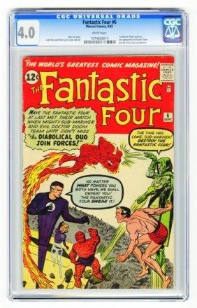 Fantastic Four #6 CGC 4.0 Marvel Comics 9/62.