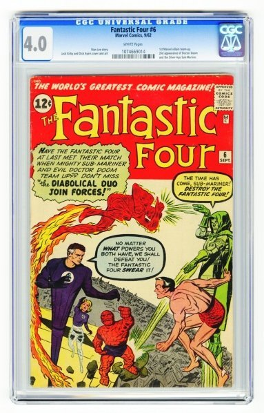 21: Fantastic Four #6 CGC 4.0 Marvel Comics 9/62.