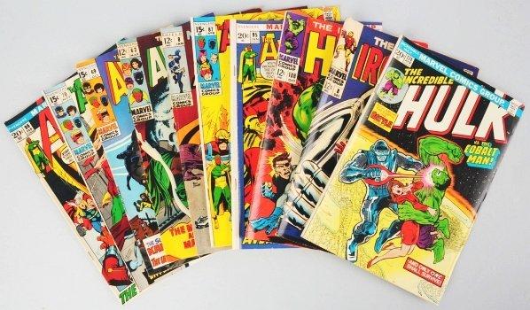 23: Lot of 10: 1960s-70s Marvel Comic Books.