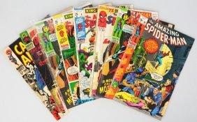 Lot Of 8: 1960s-70s Marvel Comic Books.