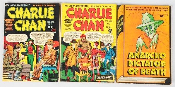 28: Lot of 3: Anarcho & Charlie Chan Comic Books.