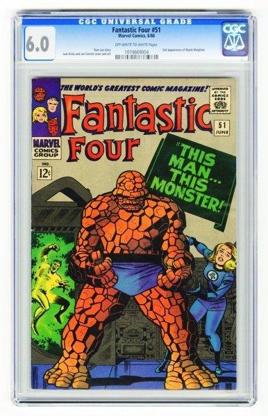 29: Fantastic Four #51 CGC 6.0 Marvel Comics 6/66.